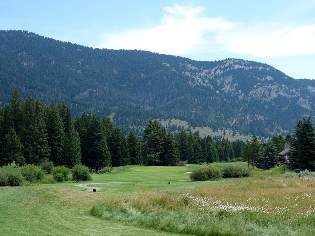 17th Hole at Big Sky Golf Course (190 Yard Par 3)