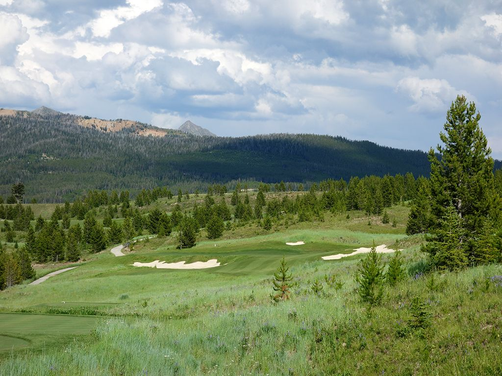 14th Hole at The Reserve at Moonlight Basin (286 Yard Par 3)