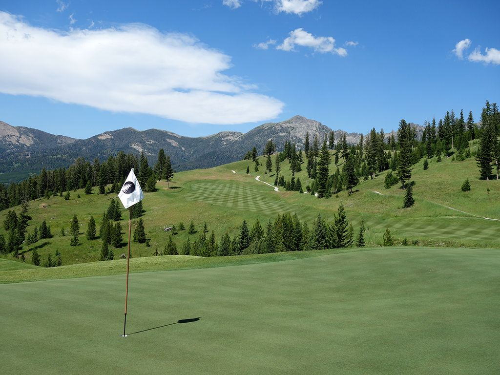 6th Hole at The Reserve at Moonlight Basin (633 Yard Par 5)