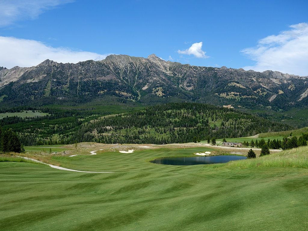9th hole at The Reserve at Moonlight Basin Ranch (Big Sky, MT)