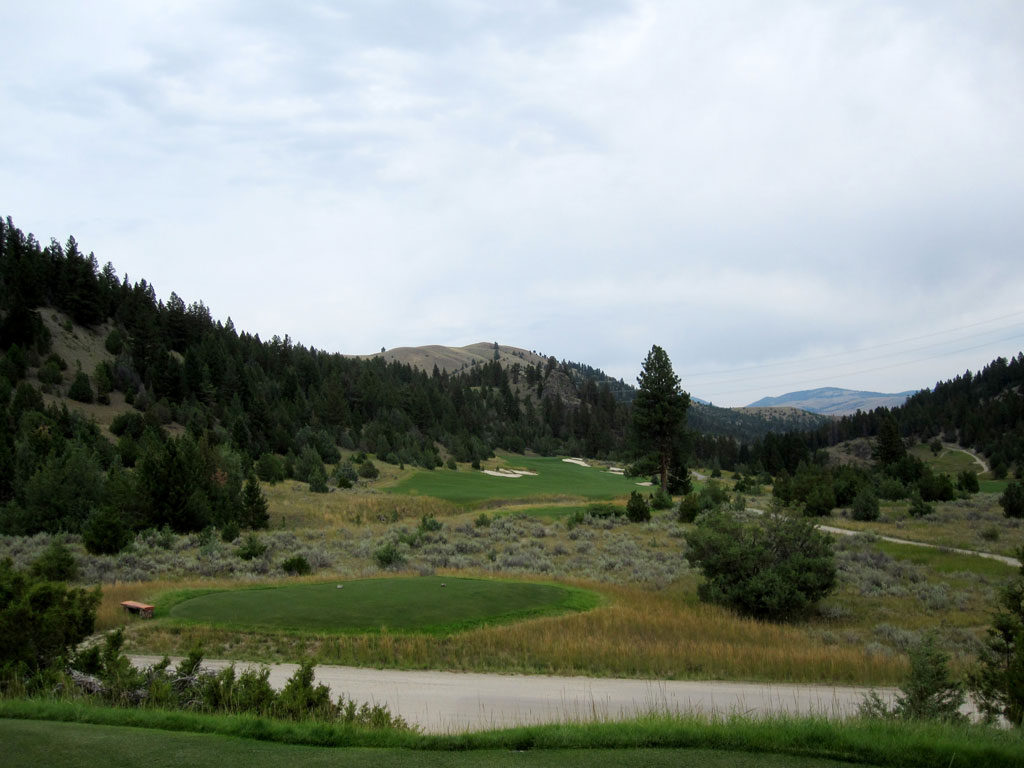 16th Hole at Rock Creek Cattle Company (467 Yard Par 4)