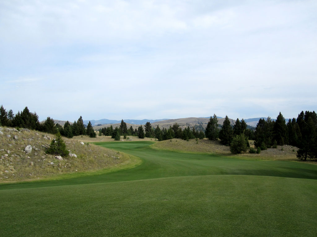 7th Hole at Rock Creek Cattle Company (486 Yard Par 4)