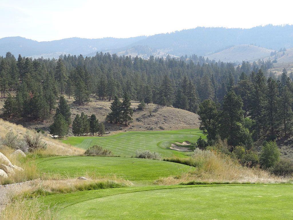 4th Hole at Stock Farm Golf Club (438 Yard Par 4)