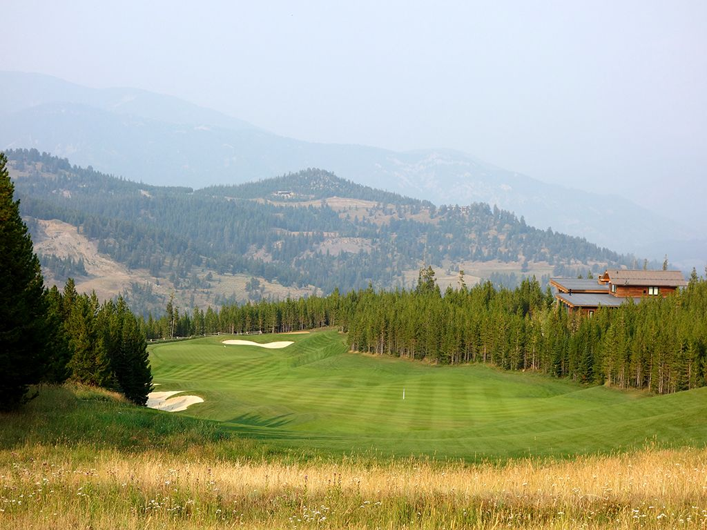 2nd Hole at Yellowstone Club (479 Yard Par 4)