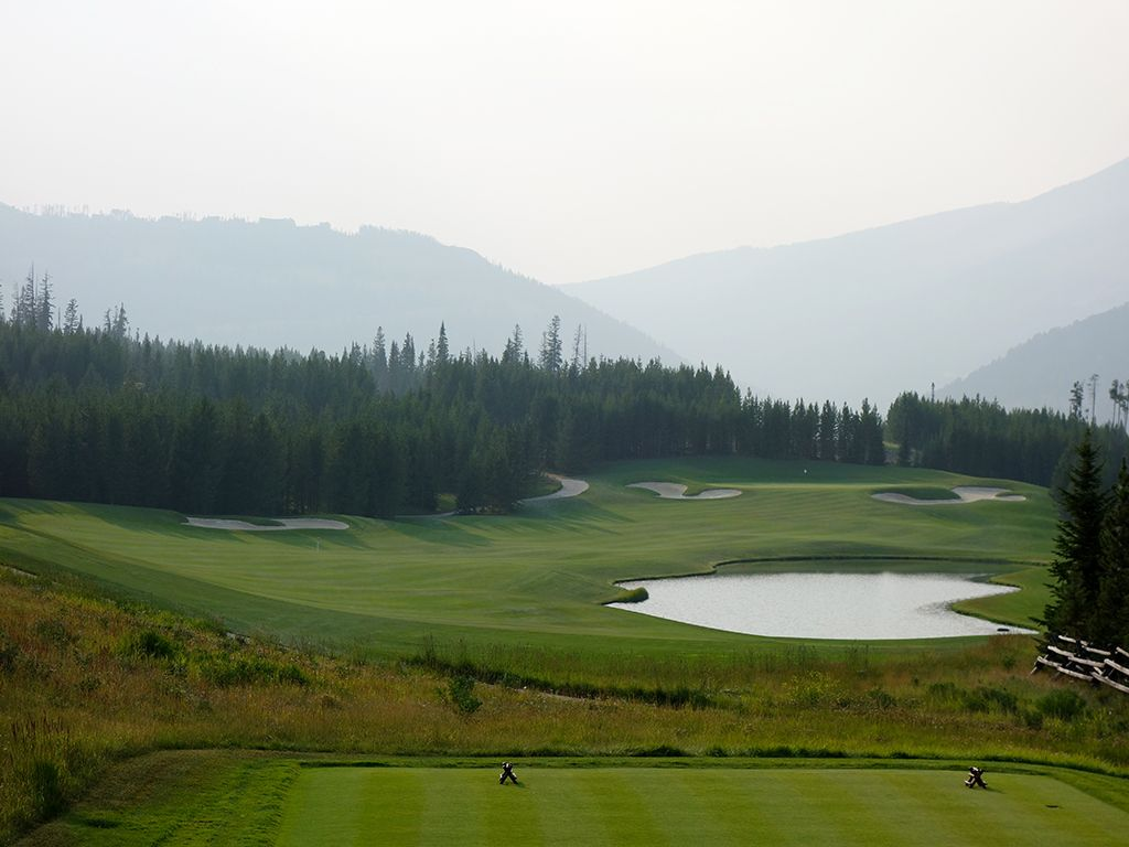 4th Hole at Yellowstone Club (434 Yard Par 4)