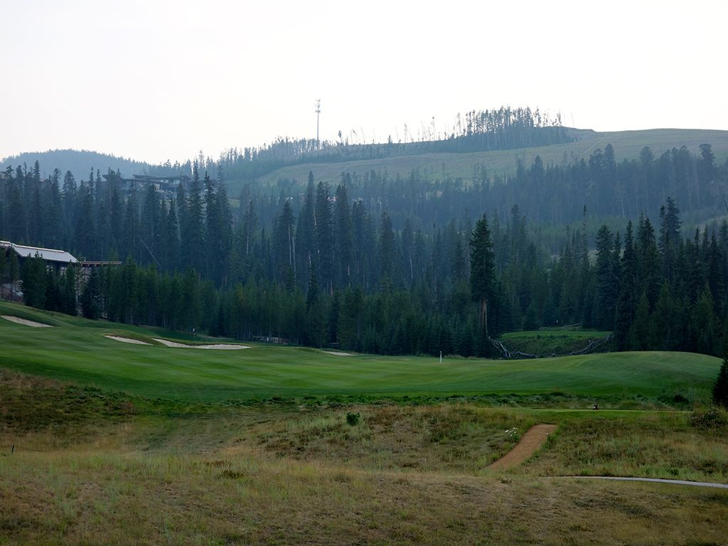 9th Hole at Yellowstone Club (325L/351R Yard Par 4)