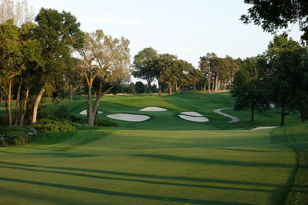 16th Hole at Omaha Country Club (527 Yard Par 5)