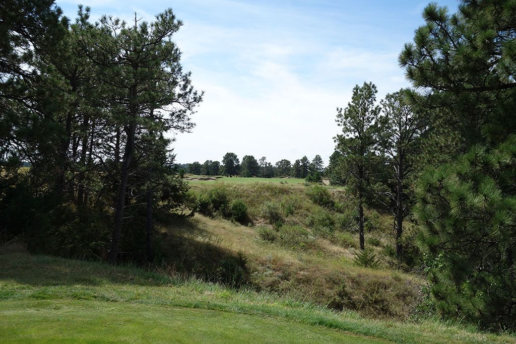 7th Hole at The Prairie Club (Pines) (616 Yard Par 5)
