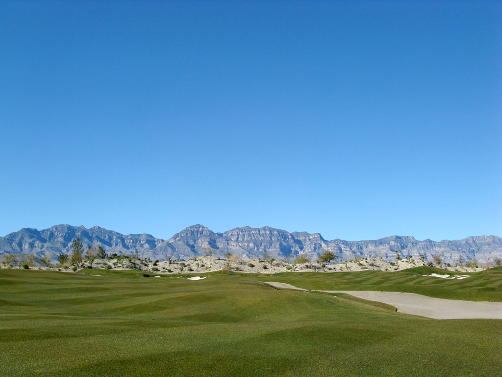 5th Hole at Coyote Springs Golf Club (585 Yard Par 5)