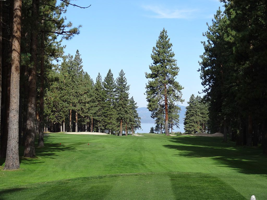 16th Hole at Edgewood Tahoe Golf Course (564 Yard Par 5)