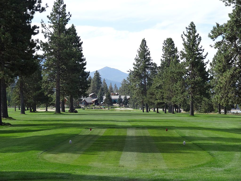 18th Hole at Edgewood Tahoe (572 Yard Par 5)