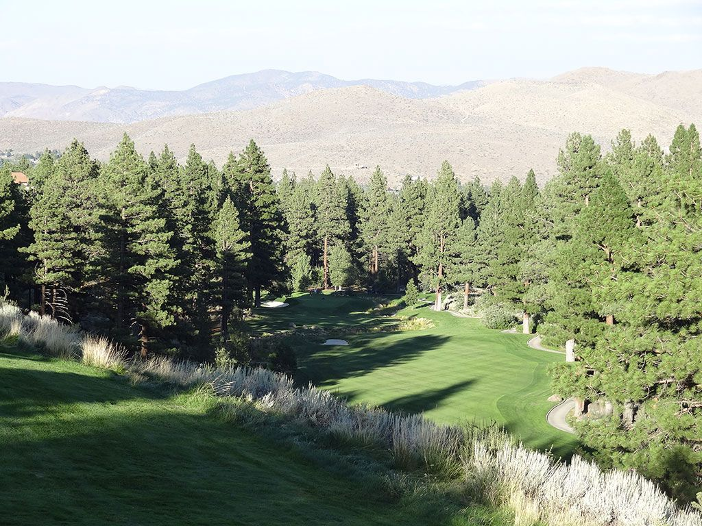 17th Hole at Montreux Country Club (464 Yard Par 4)