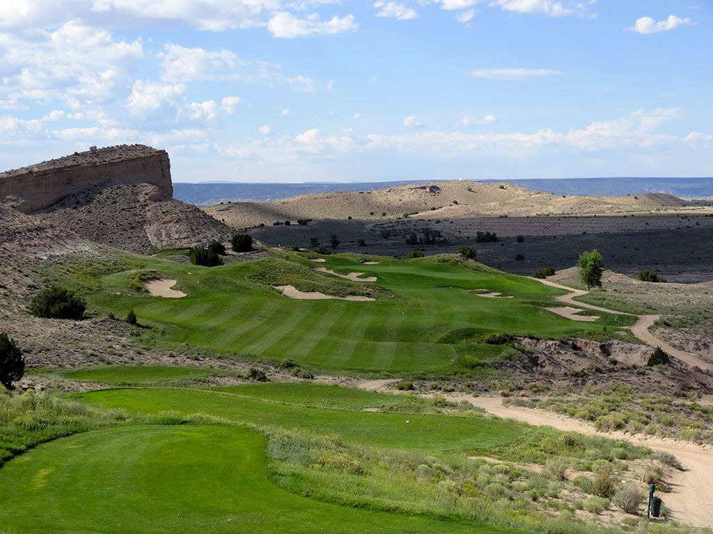 7th Hole at Black Mesa Golf Club (356 Yard Par 4)