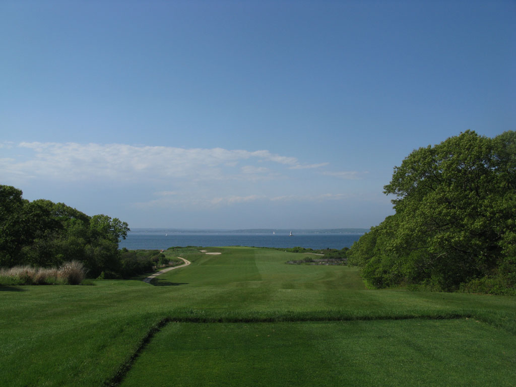 7th (Latimer) Hole at Fishers Island (363 Yard Par 4)