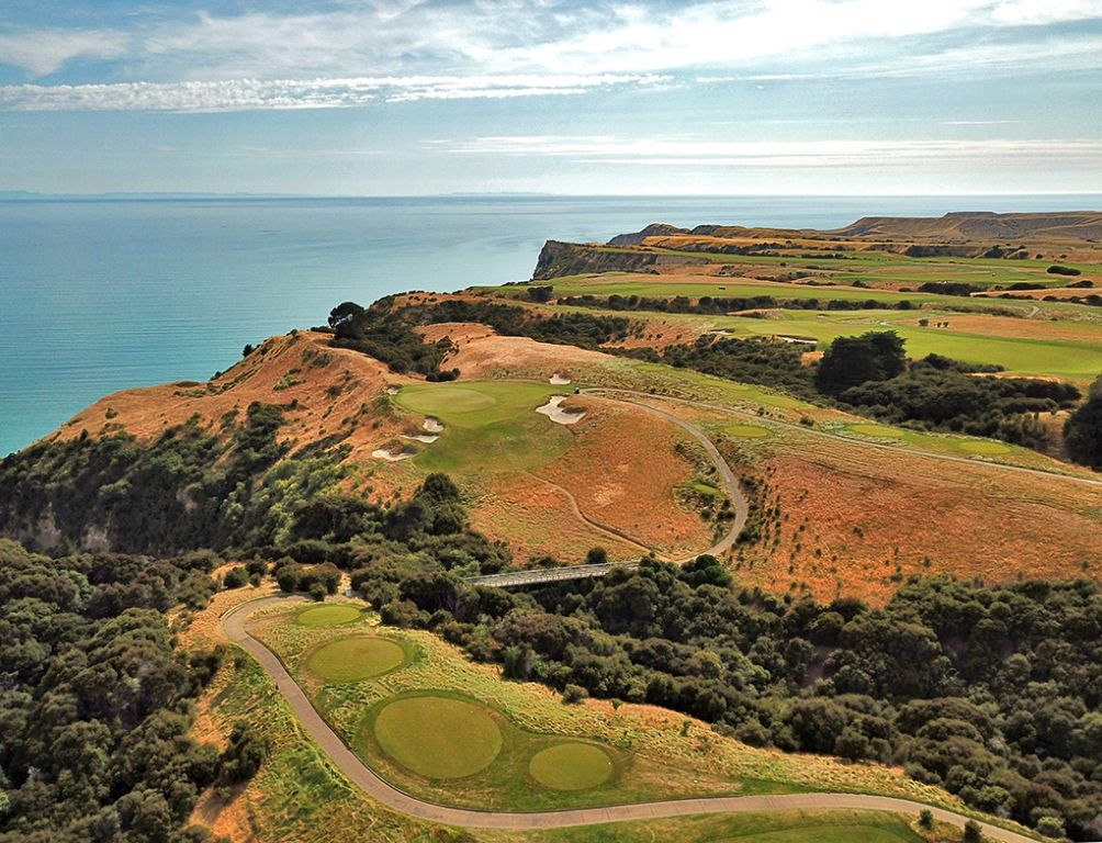 6th Hole at Cape Kidnappers Golf Course (225 Yard Par 3)