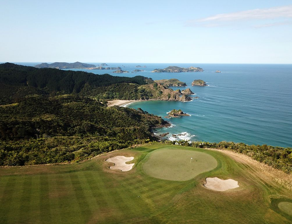 15th Hole at Kauri Cliffs Golf Course (544 Yard Par 5)