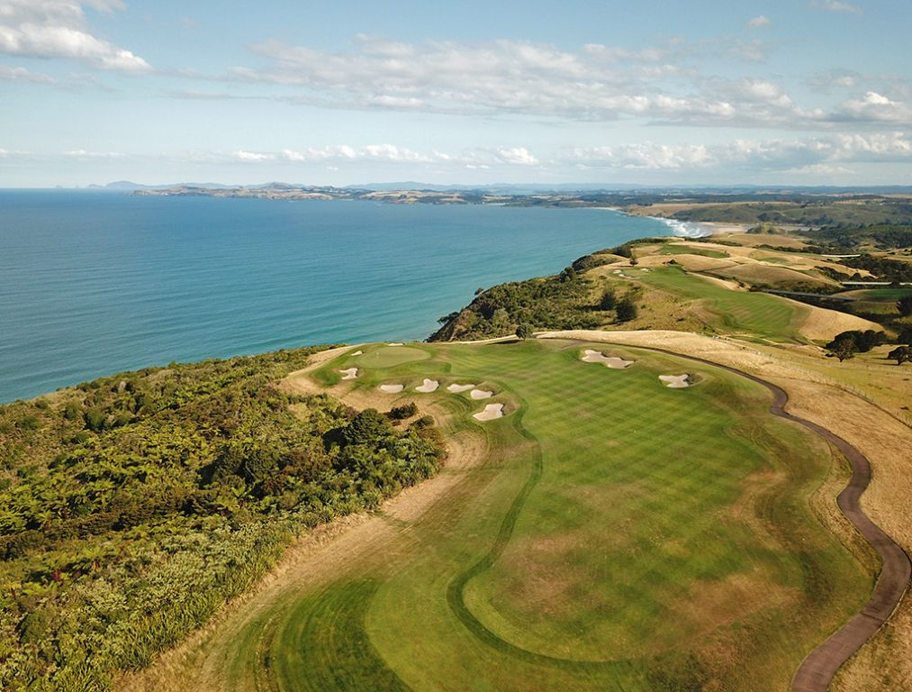 16th Hole at Kauri Cliffs Golf Course (367 Yard Par 4)