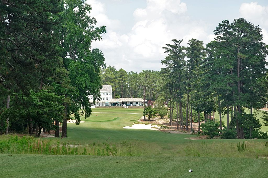 18th Hole at Mid Pines Golf Club (411 Yard Par 4)