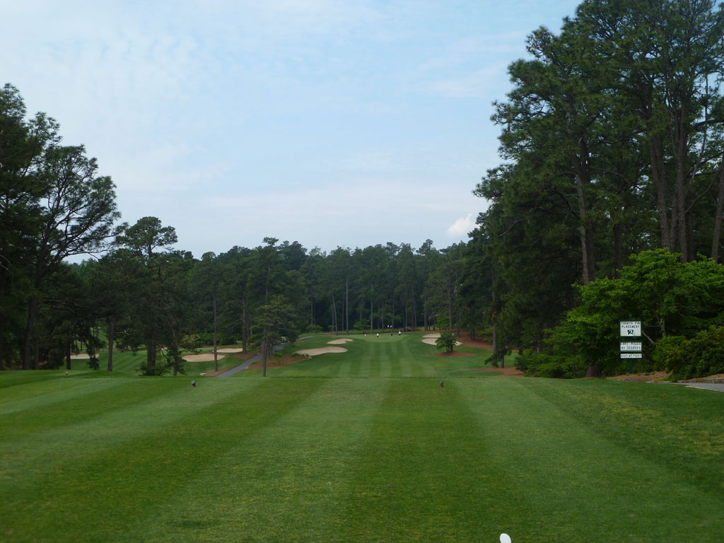1st Hole at Mid Pines (379 Yard Par 4)