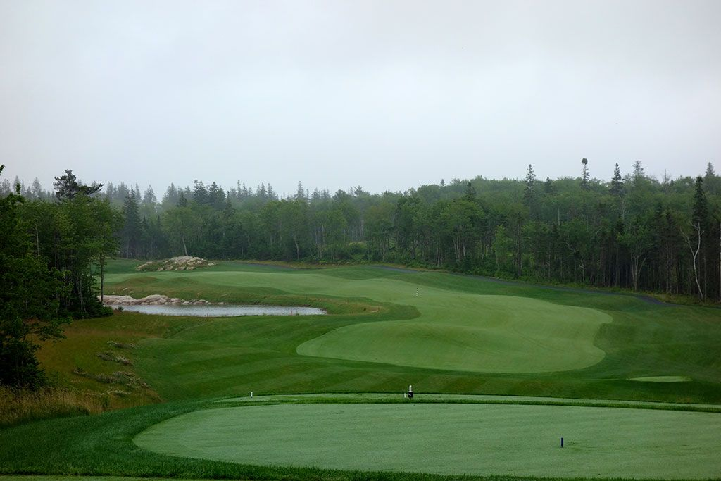 4th Hole at The Links at Brunello (469 Yard Par 4)