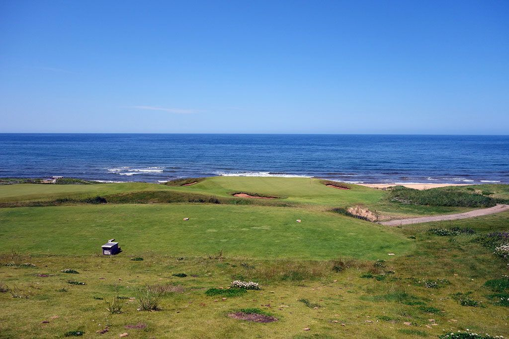 14th Hole at Cabot Links (102 Yard Par 3)