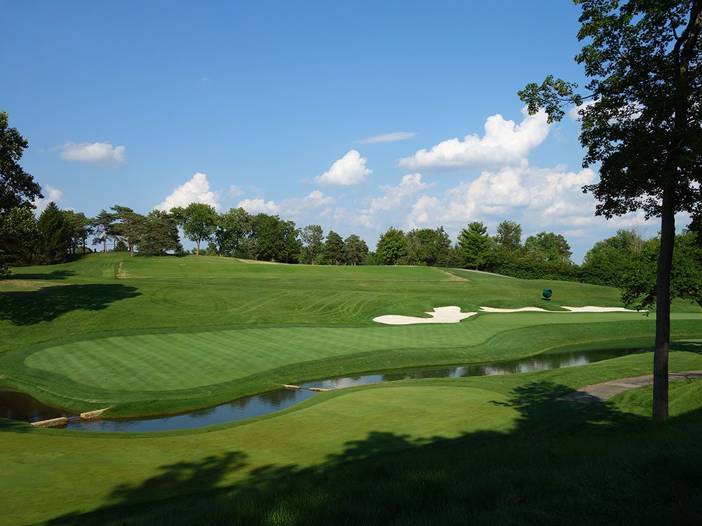 14th Hole at Muirfield Village Golf Club (363 Yard Par 4)