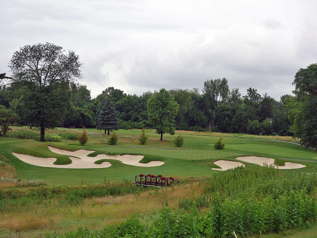 13th Hole at Ohio State University (Scarlet) (221 Yard Par 3)