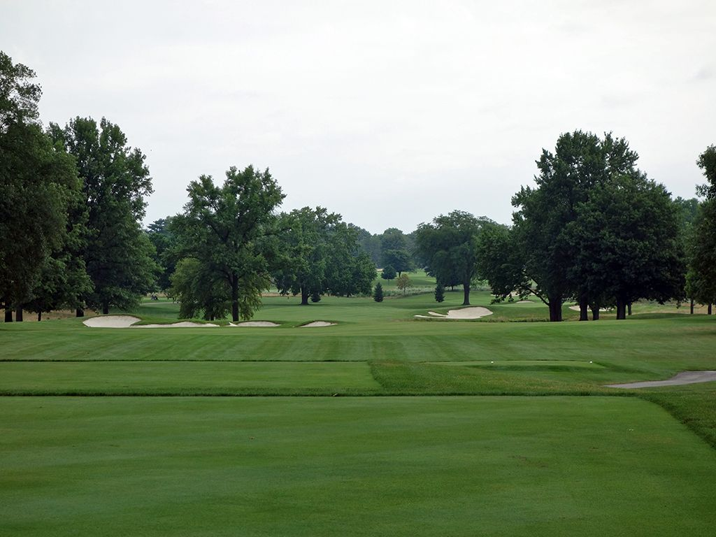 4th Hole at Ohio State University (Scarlet) (575 Yard Par 5)