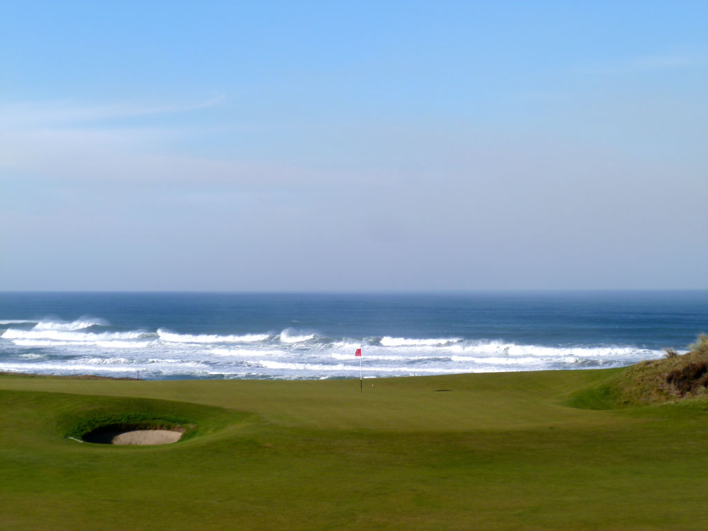 No course at the resort offers more exposure to the ocean than Bandon Dunes as is evidenced here at the 12th
