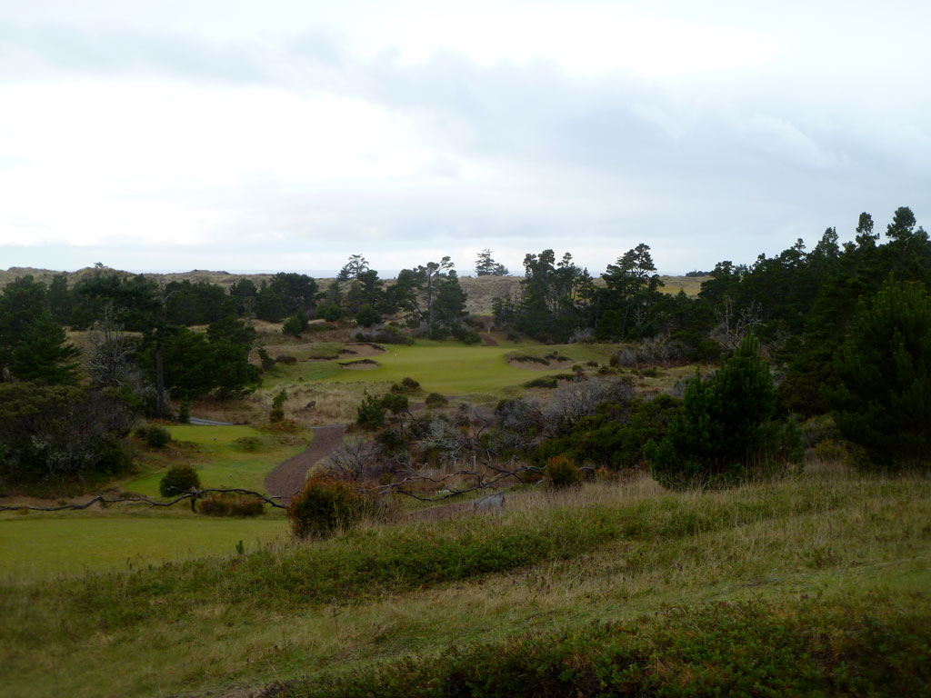 17th Hole at Bandon Trails - a forced carry par three
