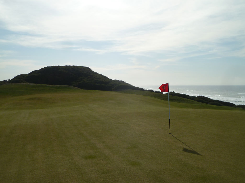 The highest point on the course is the 7th green at Old Macdonald where a stunning view awaits