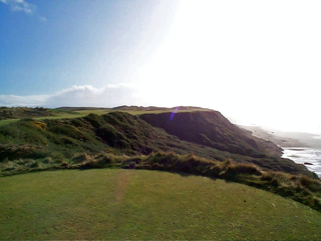 The most intimidating tee shot at Pacific Dunes is without question at the 4th hole
