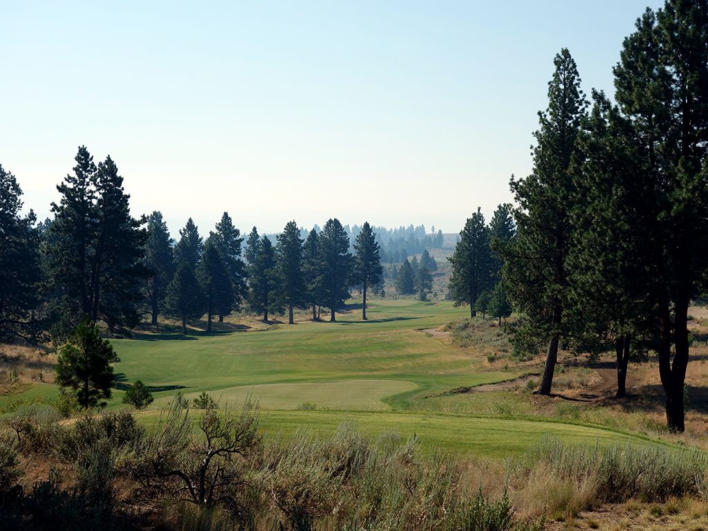 13th Hole at Silvies Valley Ranch (Craddock) (550 Yard Par 5)