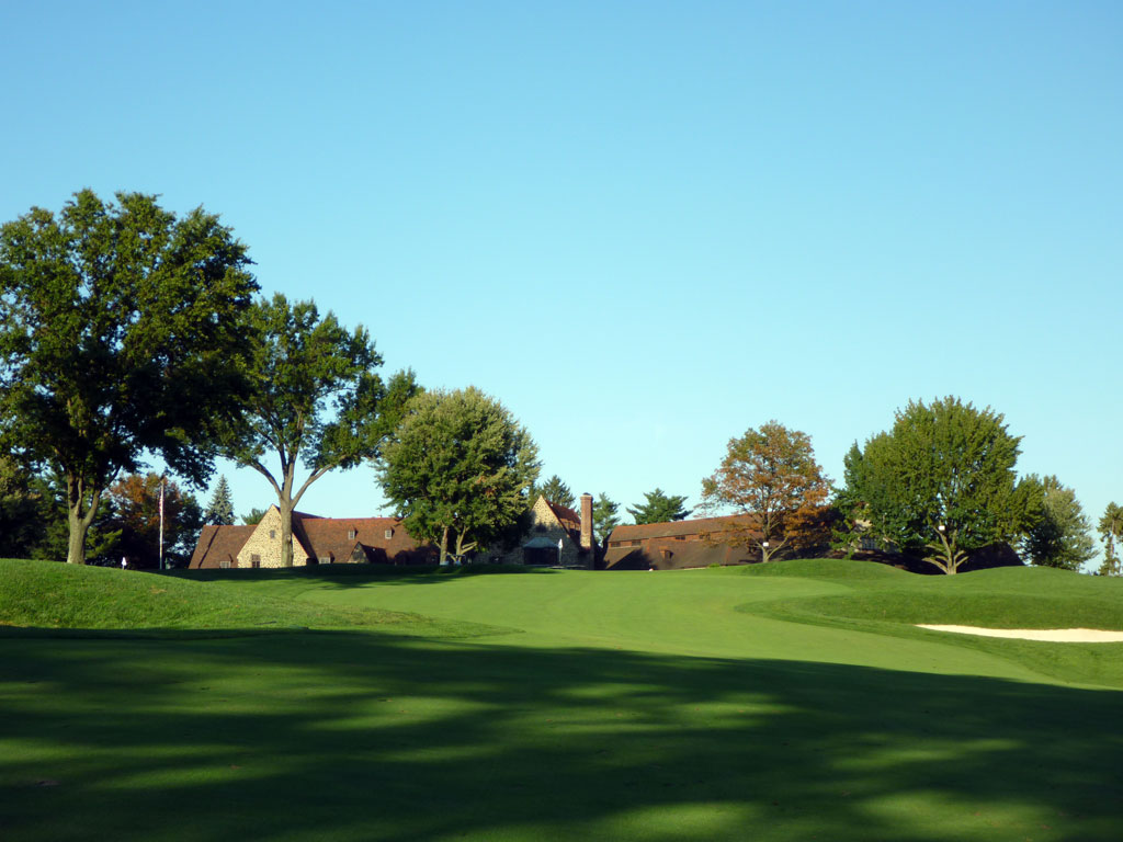 9th Hole at Aronimink Golf Club (605 Yard Par 5)
