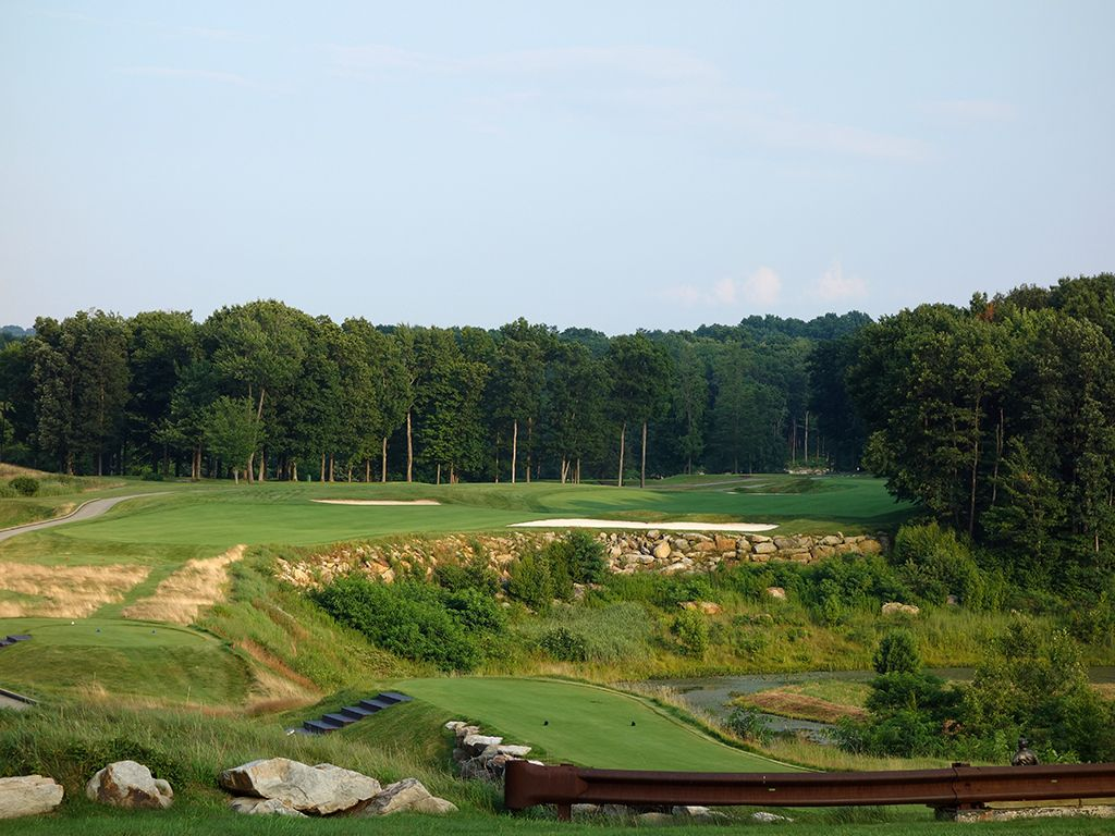 2nd Hole at Mystic Rock at Nemacolin Woodlands Resort (473 Yard Par 4)