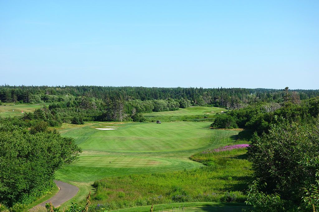 11th Hole at The Links at Crowbush Cove (565 Yard Par 5)