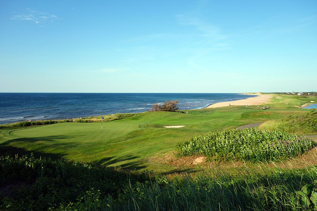 16th Hole at The Links at Crowbush Cove (360 Yard Par 4)