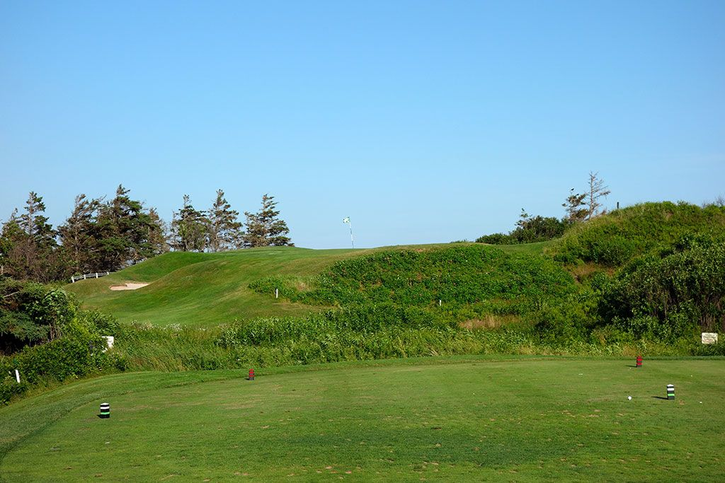 17th Hole at The Links at Crowbush Cove (113 Yard Par 4)