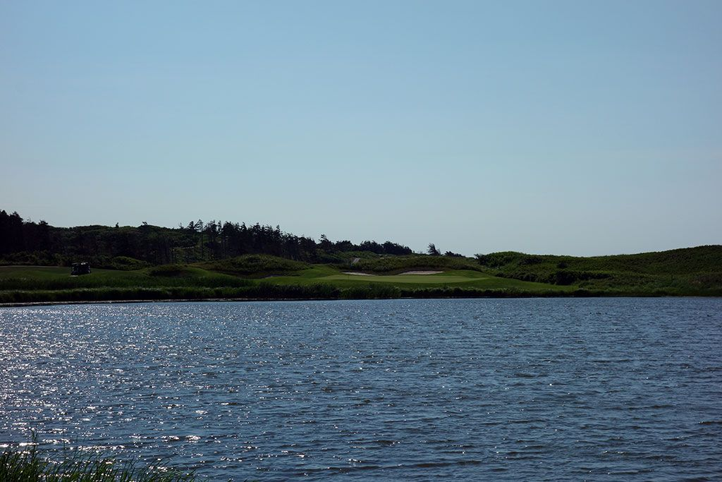 8th Hole at Crowbush Cove, The Links at (219 Yard Par 3)