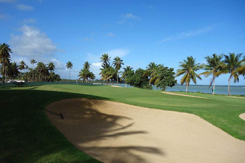 16th Hole at Bahia Beach Resort and Golf Club (457 Yard Par 4)
