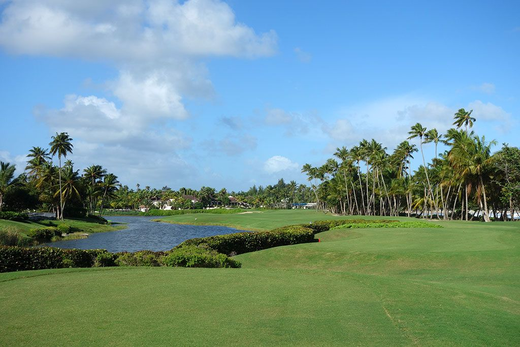 18th Hole at Bahia Beach Resort and Golf Club (458 Yard Par 4)