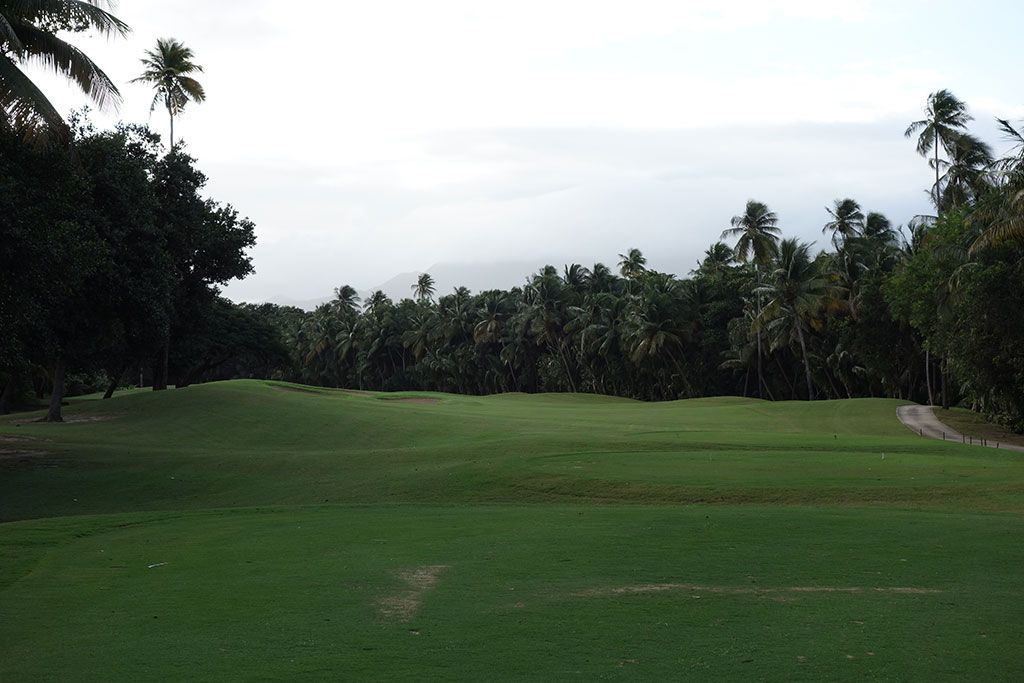 6th Hole at Bahia Beach Resort and Golf Club (442 Yard Par 4)