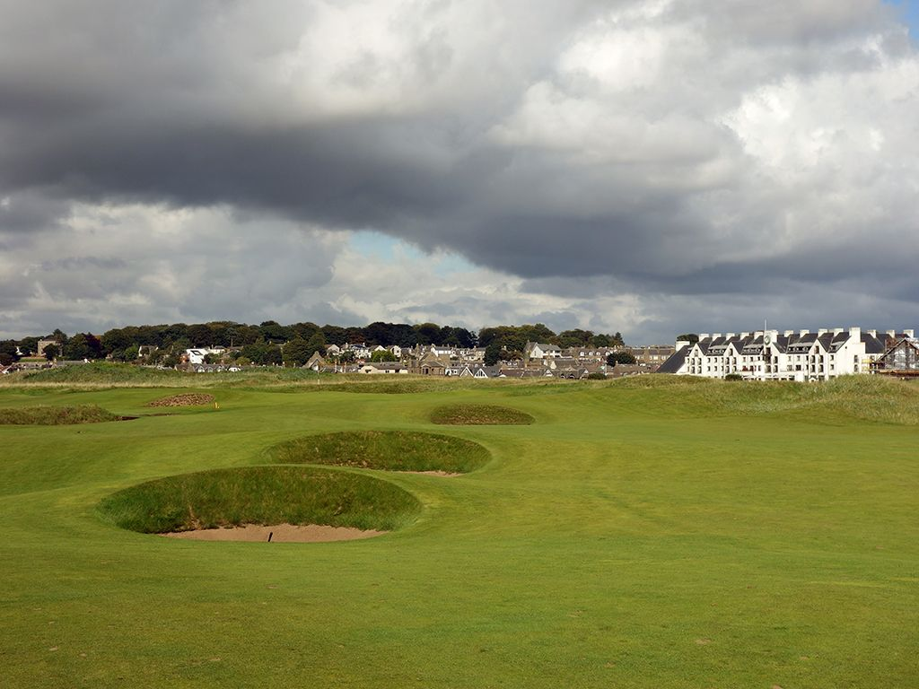 3rd (Jockie's Burn) Hole at Carnoustie Golf Links (Championship) (348 Yard Par 4)