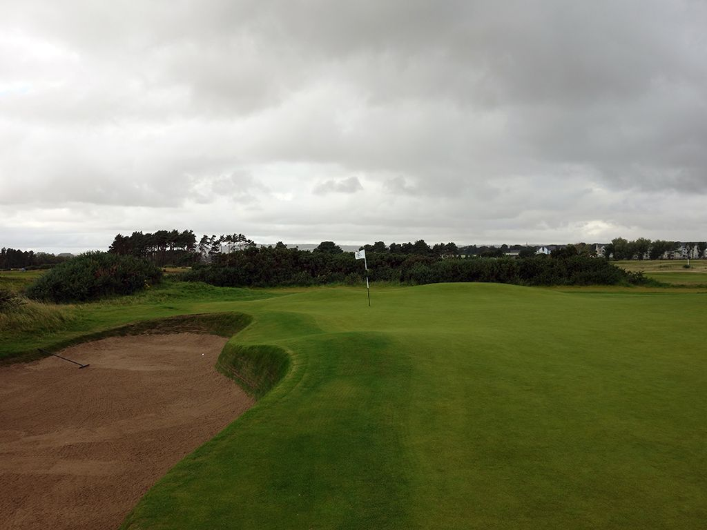 6th (Hogan's Alley) Hole at Carnoustie Golf Links (Championship) (578 Yard Par 5)