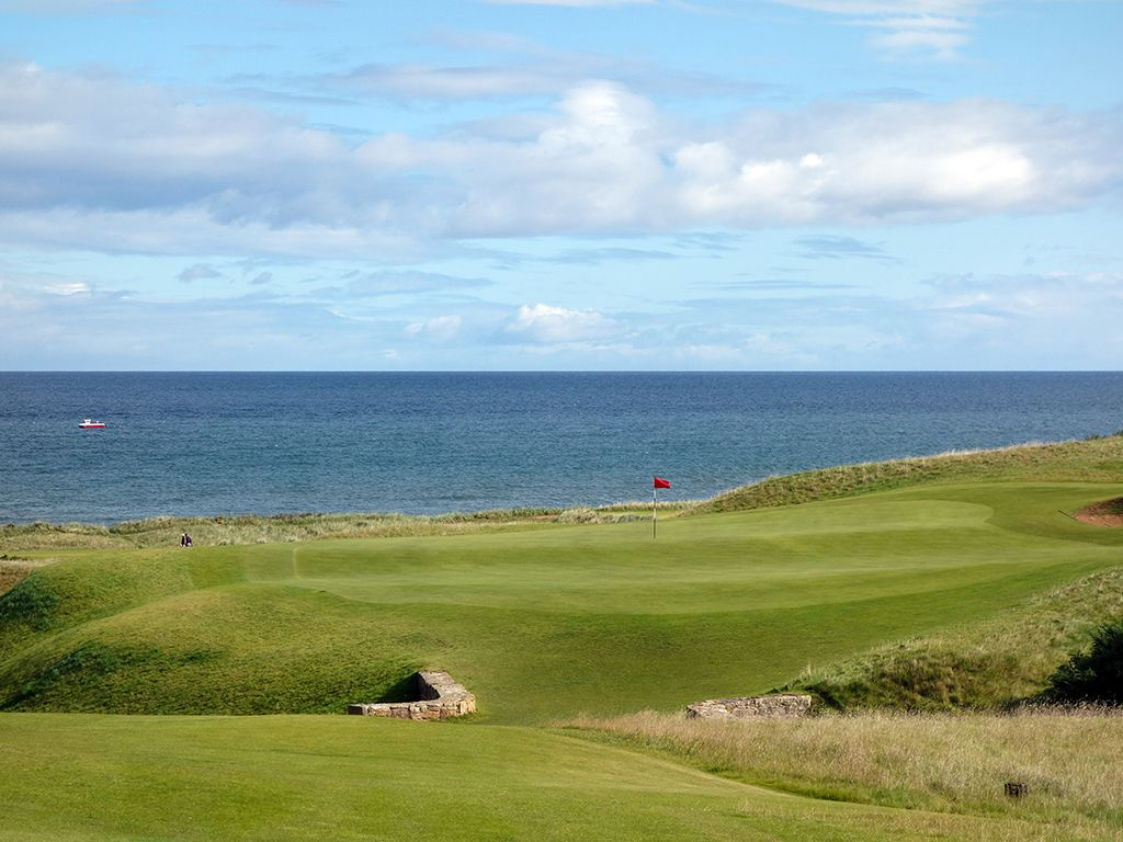18th Hole at Kingsbarns Golf Links (444 Yard Par 4)