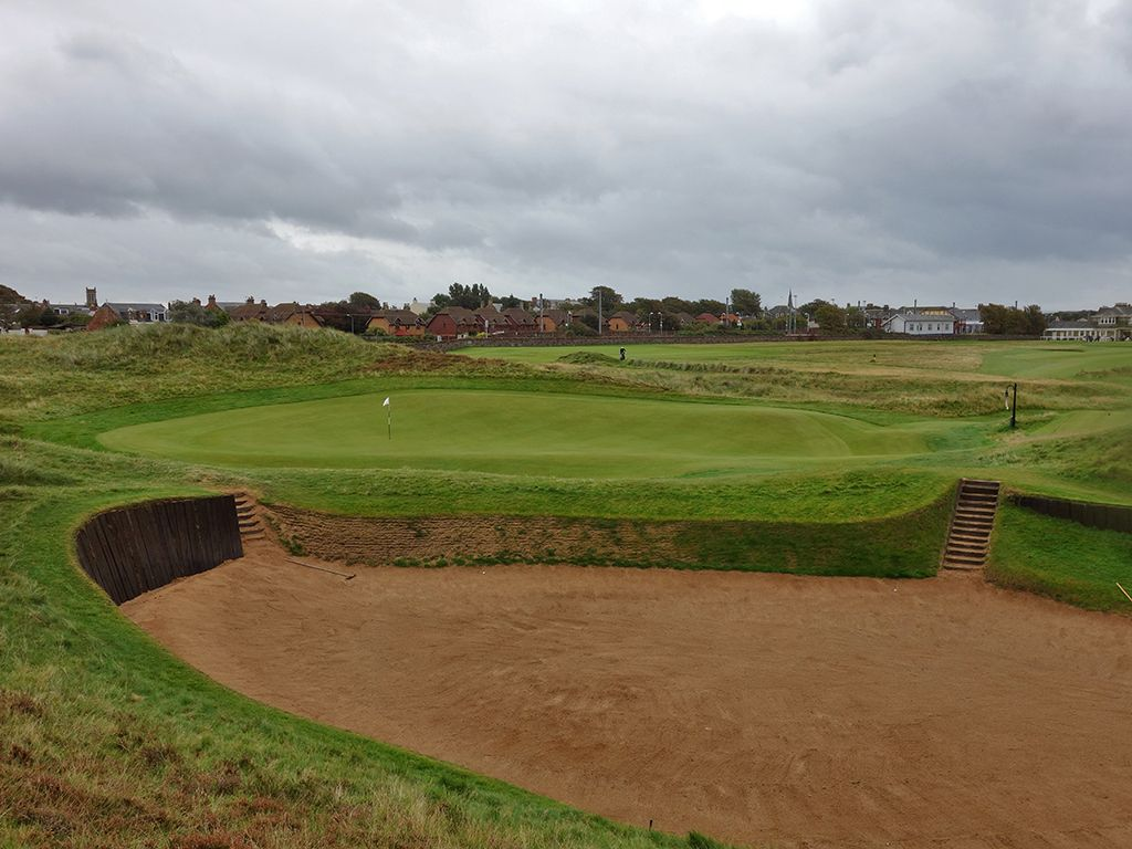 17th (Alps) Hole at Prestwick Golf Club (394 Yard Par 4)