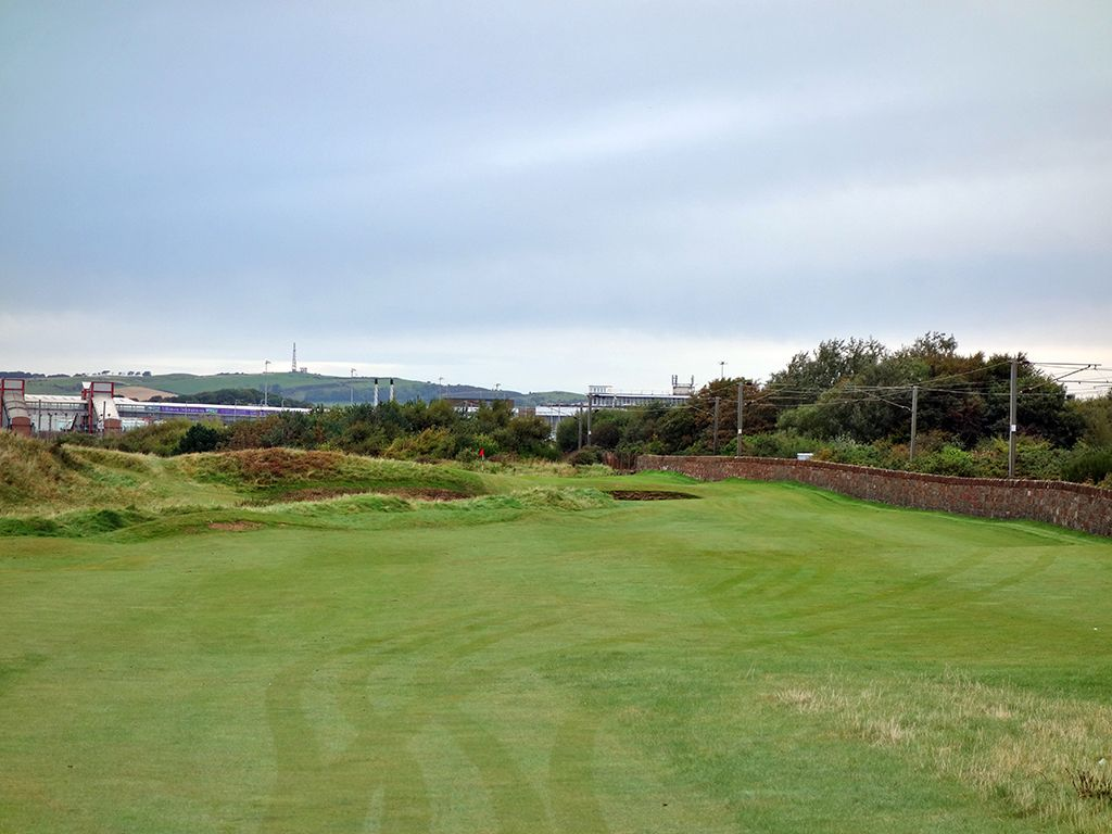 1st (Railway) Hole at Prestwick Golf Club (345 Yard Par 4)