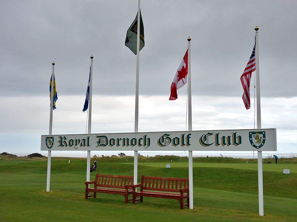 The famous flags at Royal Dornoch