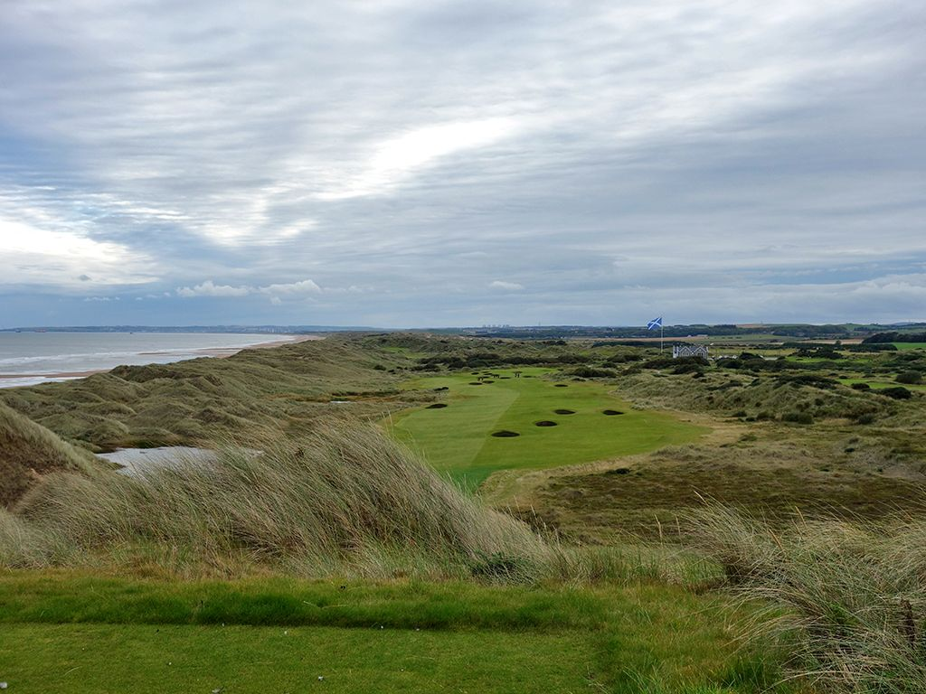 18th Hole at Trump International Golf Links Scotland (651 Yard Par 5)