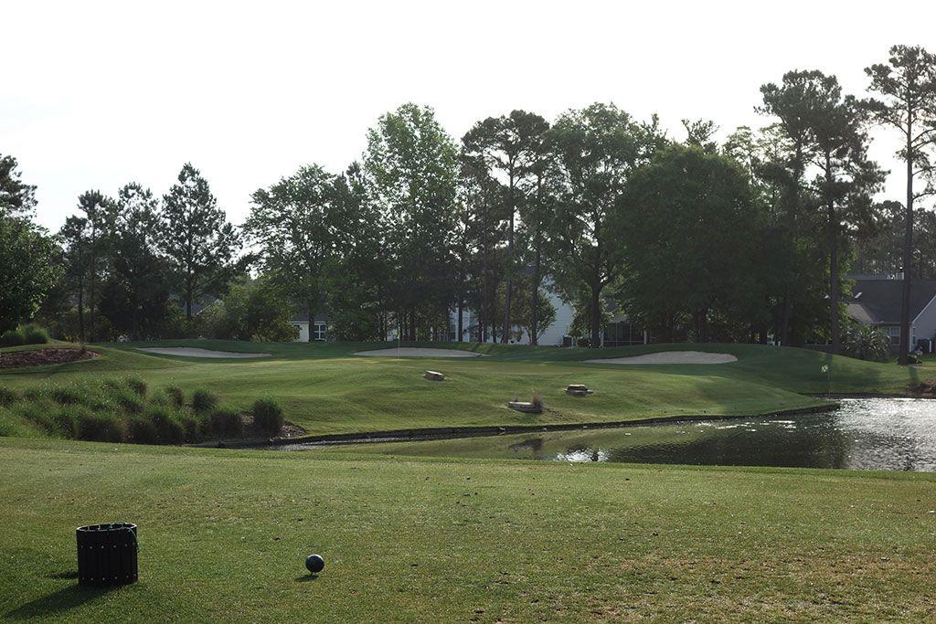 5th (Lakes) Hole at Arrowhead Country Club (138 Yard Par 3)
